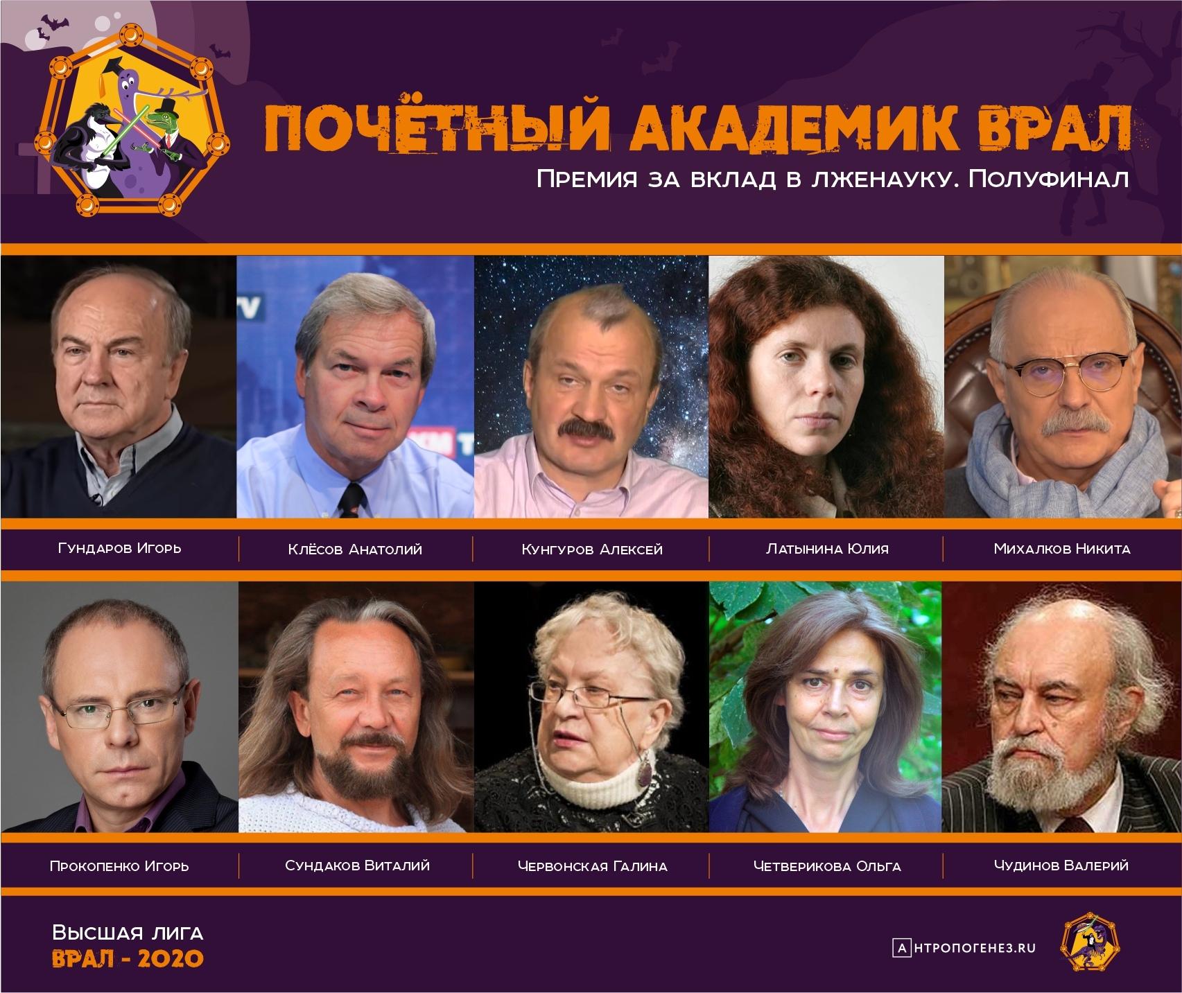 Почетный Академик ВРАЛ – 2020